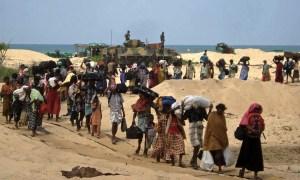 Tamil refugee stream -beach-tank-sea