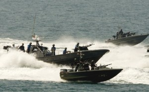 Sri Lankan Navy displays its gunboats during Independence Day celebrations in Colombo