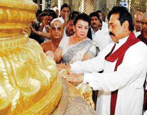 MR + wife at THIRUPAHI