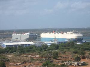 Hambantota_Port_Docks_two_ships