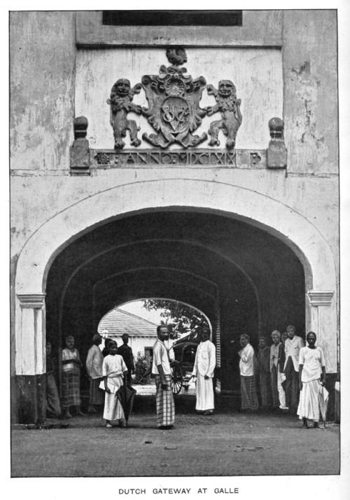 VOC crest Galle Fort