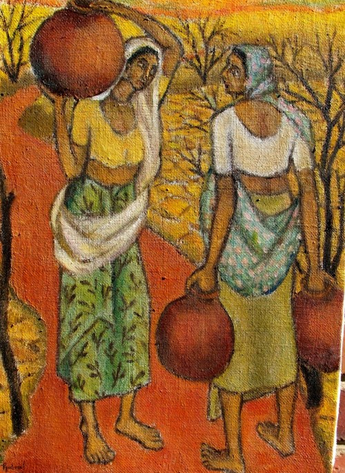 075 OoC Women Fetching water Srilal  Collection March 07  450x550