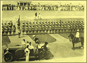 arrival-of-governor-general-sir-henry-monck-mason-moor-to-inaugarate-the-first-parliament-of-dominion-ceylon++