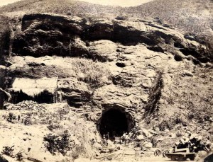 Cn 11= Undergoing constructions of a Tunnel, Colombo - Kandy Railway Line, c. 1860