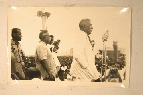 DS Senanayake on podium++