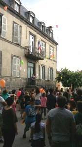 La Mairie de Thuret lors de la fête de l'école juin 2014