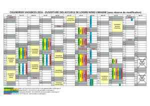 calendrier ouverture alsh 2016
