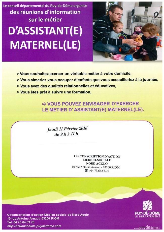 Info métier assistante maternelle