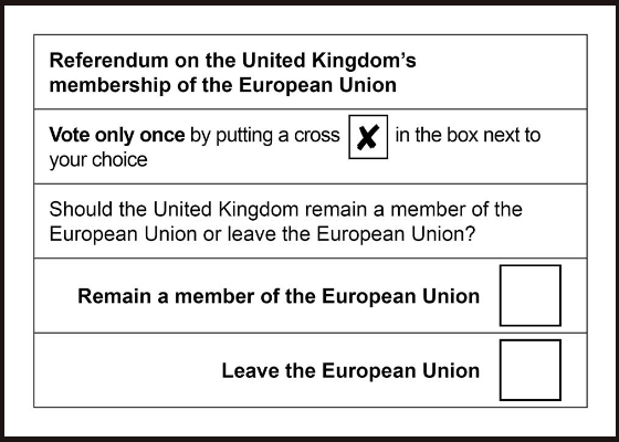 Ballot for Britain's Exit from the EU
