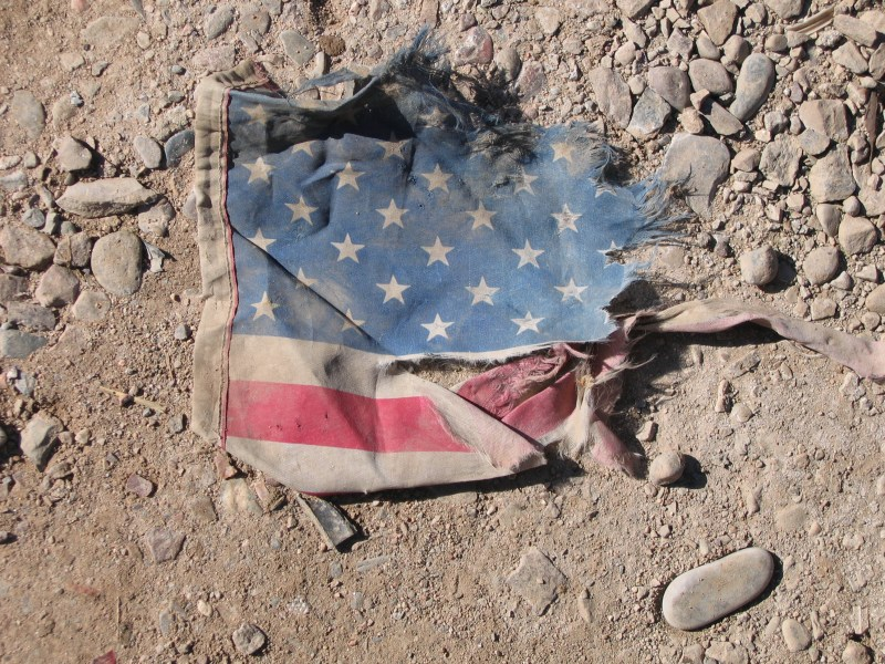 Tattered U.S. Flag