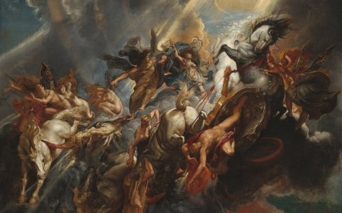 Sir Peter Paul Rubens (Flemish, 1577 - 1640 ), The Fall of Phaeton, c. 1604/1605, probably reworked c. 1606/1608, oil on canvas. National Gallery of Art.