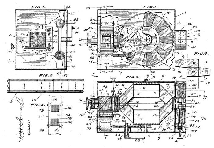 Patent for a 3D Movie System