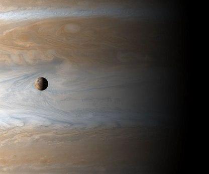 Jupiter and its moon Io