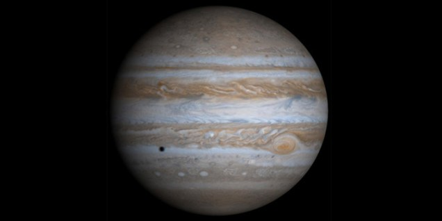 Jupiter - the black dot is a moon