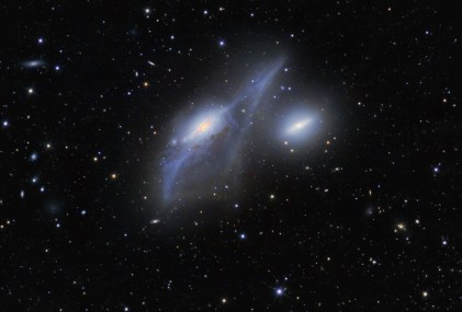 Markarian's Eyes - two interacting galaxies