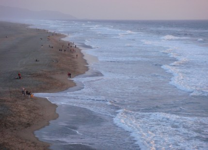 SF Ocean Beach at Sunset - m