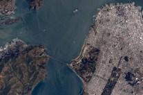 Golden Gate Bridge - taken from the International Space Station By Scott Kelly