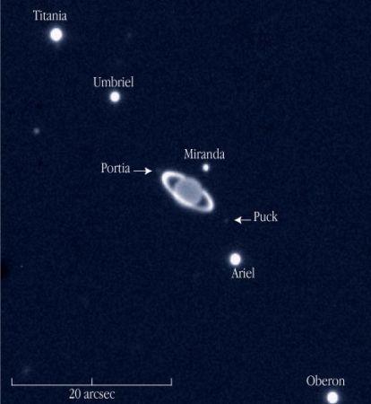 Uranus, Rings and Moons in near-infrared