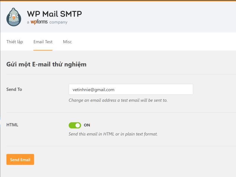 Cài đặt mail server cho WP
