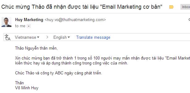 Cá nhân hóa email marketing bằng Gmail + Google Spreadsheet