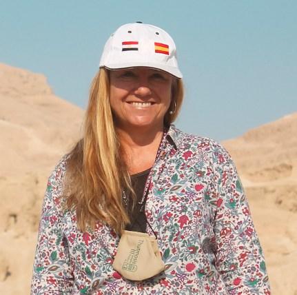 Myriam Seco, arqueóloga, directora del templo de Tutmosis III y profesora de la Universidad de Sevilla.