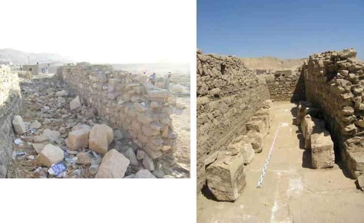 La evolucion de los trabajos de restauración en Tutmosis_02