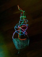 wire, sculpture, LED light