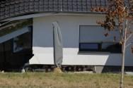 Unterspülte Fundamente des zerstörten Hauses in Fischbeck