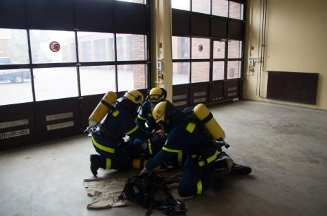 Atemschutznotfalltraining am 20.9.2014 bei den Berliner Wasserbetrieben