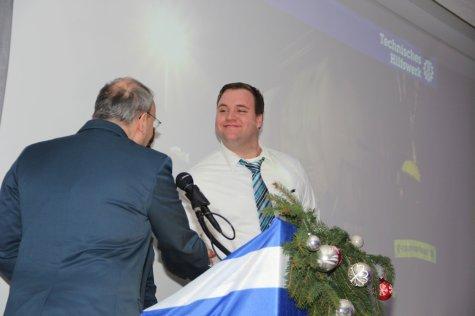 Olaf Kobold freut sich über die Auszeichnung. Bild:THW/Paul Jerchel