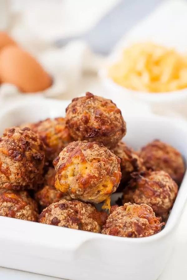 3 Ingredient Keto Air Fryer Sausage Balls