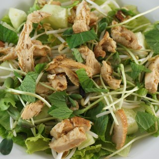 Chicken Romaine Mint Salad