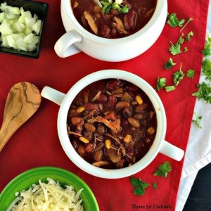 3Bean Chicken Chili~ Thyme for Cocktails