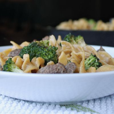 Creamy Beef Tips and Broccoli Skillet