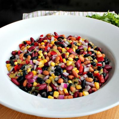 Green Chile Three Bean Salad