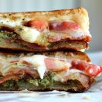 Charred Broccoli Pesto Grilled Cheese