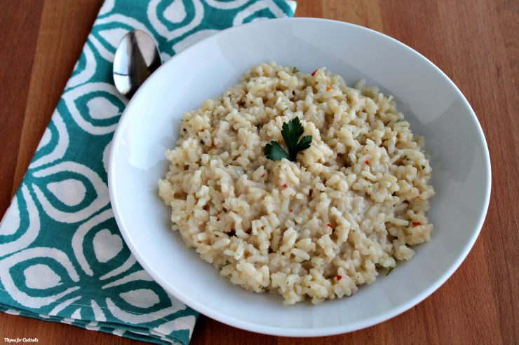 Creamy Smoked Gouda Risotto~ Thyme for Cocktails