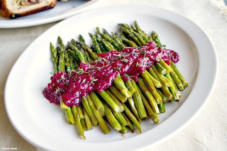 Asparagus with Blackberry White Wine Reduction