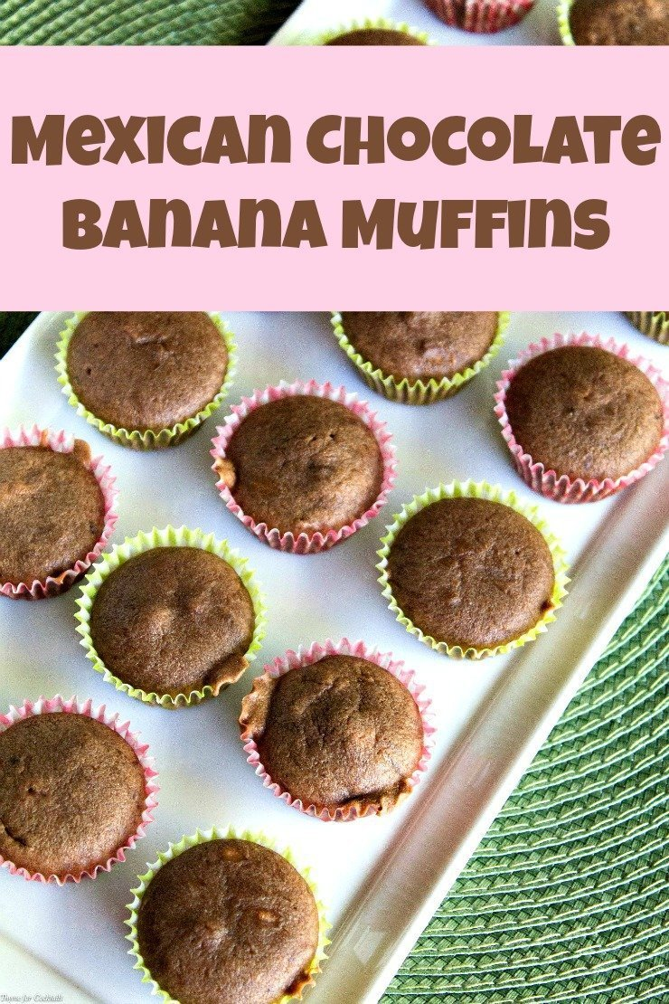 Mexican Chocolate Banana Muffins ~ Thyme for Cocktails