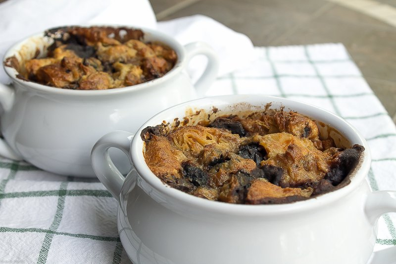 Chocolate and Irish Cream Croissant Bread Pudding