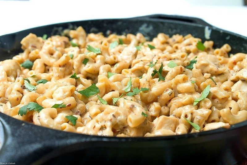 Chipotle Chicken Mac and Cheese Skillet-3