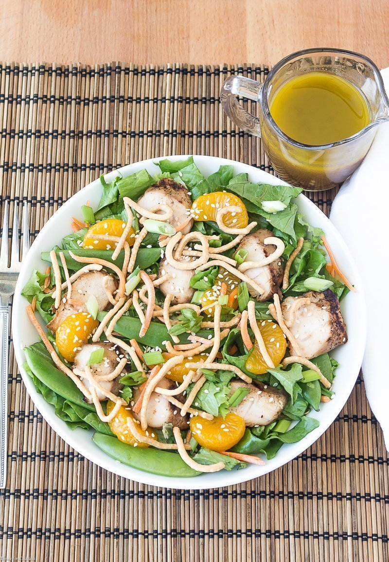 Mandarin Chicken Salad with Sweet and Sour Vinaigrette