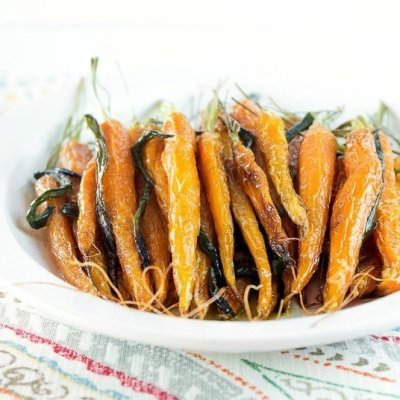 Maple Glazed Poblano Carrots