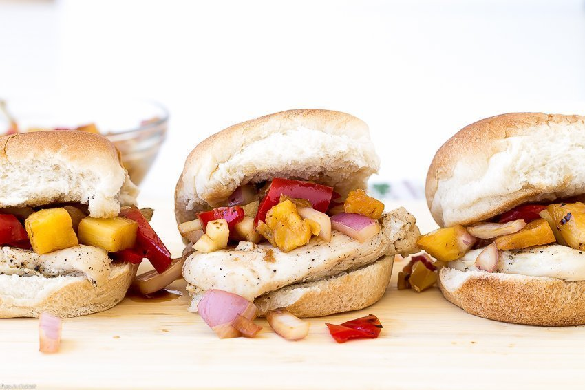 Grilled Teriyaki Chicken Sliders