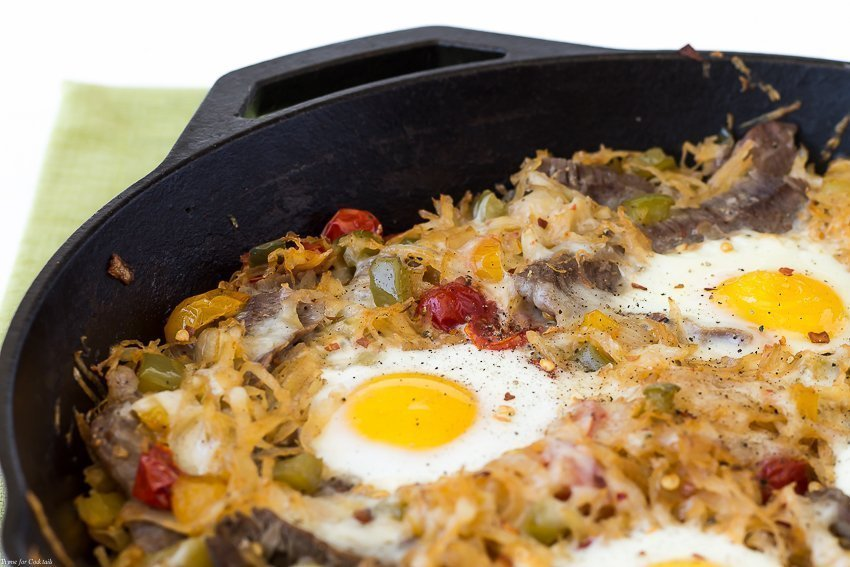 Southwest Steak And Eggs Skillet