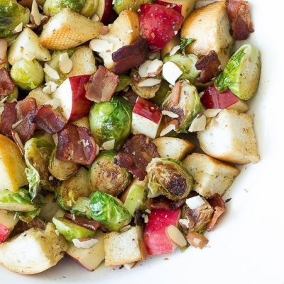 Brussels Sprout Panzanella Salad