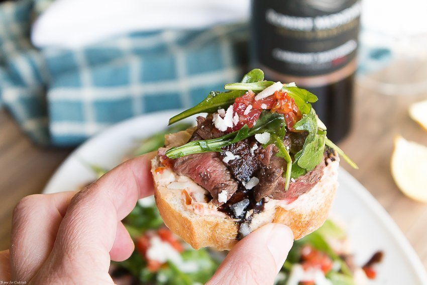 Balsamic Steak Crostini