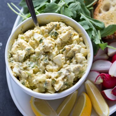 Green Chile Blue Cheese Egg Salad
