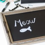 DIY Chalkboard Serving Tray Tutorial