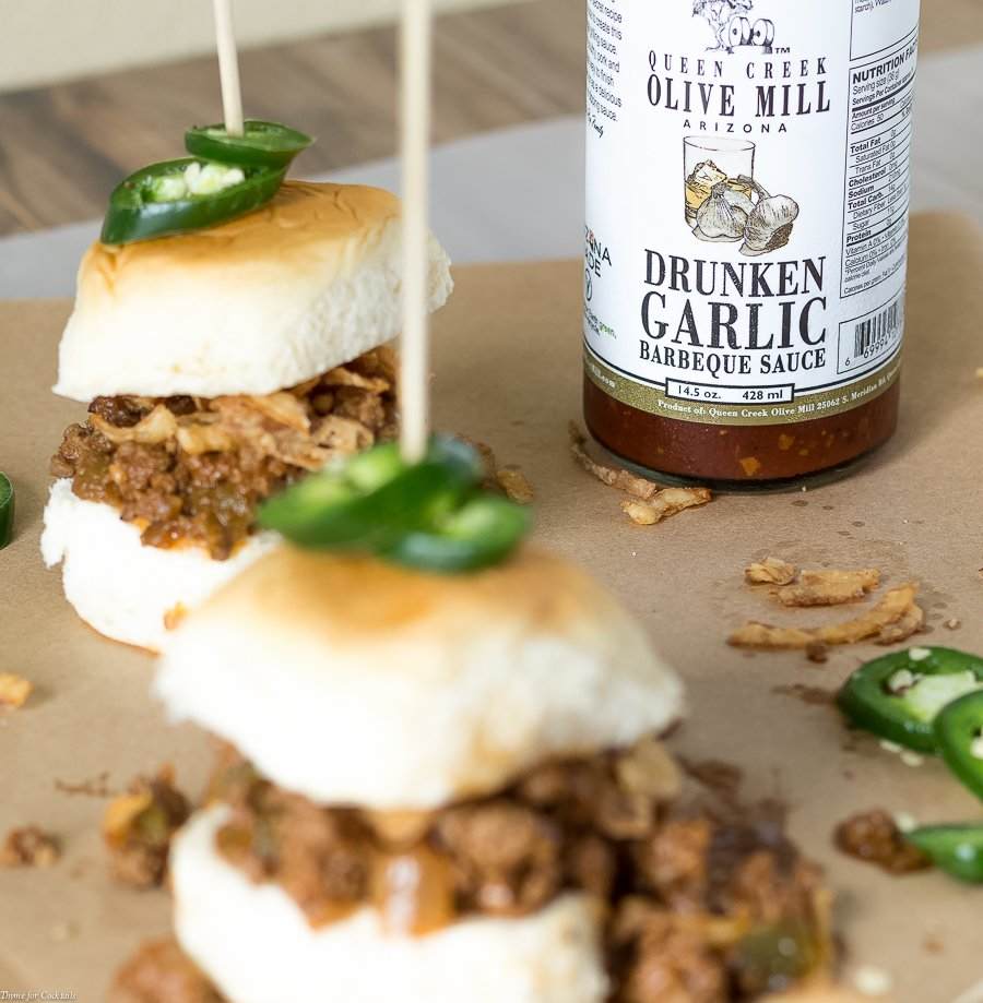 Drunken Garlic Sloppy Joe Sliders recipe bottle picture